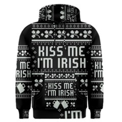 Kiss Me I m Irish Ugly Christmas Black Background Men s Pullover Hoodie