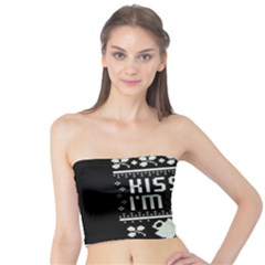 Kiss Me I m Irish Ugly Christmas Black Background Tube Top