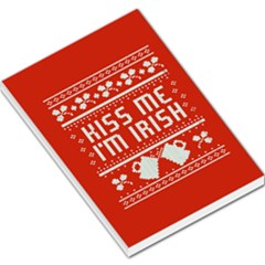 Kiss Me I m Irish Ugly Christmas Red Background Large Memo Pads