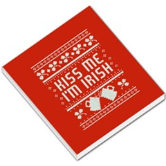 Kiss Me I m Irish Ugly Christmas Red Background Small Memo Pads