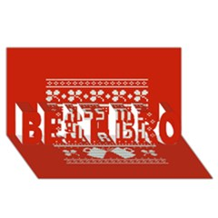Kiss Me I m Irish Ugly Christmas Red Background BEST BRO 3D Greeting Card (8x4)