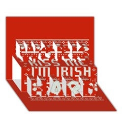 Kiss Me I m Irish Ugly Christmas Red Background Work Hard 3d Greeting Card (7x5)