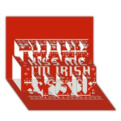 Kiss Me I m Irish Ugly Christmas Red Background Thank You 3d Greeting Card (7x5)
