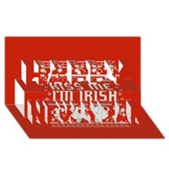 Kiss Me I m Irish Ugly Christmas Red Background Happy New Year 3d Greeting Card (8x4)
