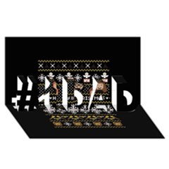 Merry Nerdmas! Ugly Christma Black Background #1 Dad 3d Greeting Card (8x4)