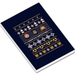 Merry Nerdmas! Ugly Christmas Blue Background Large Memo Pads