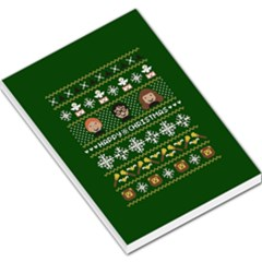 Merry Nerdmas! Ugly Christma Green Background Large Memo Pads