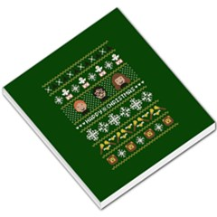 Merry Nerdmas! Ugly Christma Green Background Small Memo Pads