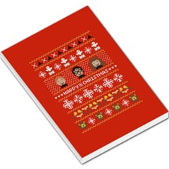 Merry Nerdmas! Ugly Christma Red Background Large Memo Pads