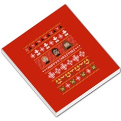 Merry Nerdmas! Ugly Christma Red Background Small Memo Pads