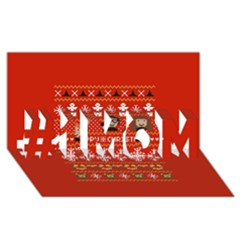 Merry Nerdmas! Ugly Christma Red Background #1 MOM 3D Greeting Cards (8x4)