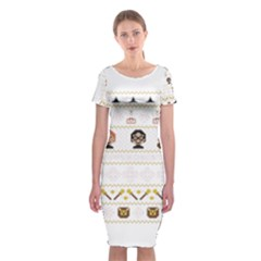 Merry Nerdmas! Ugly Christmas Classic Short Sleeve Midi Dress
