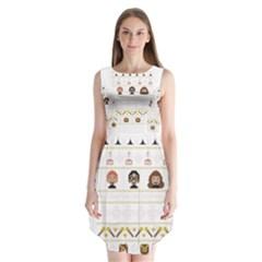 Merry Nerdmas! Ugly Christmas Sleeveless Chiffon Dress