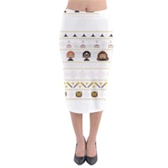 Merry Nerdmas! Ugly Christmas Midi Pencil Skirt