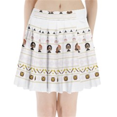 Merry Nerdmas! Ugly Christmas Pleated Mini Skirt