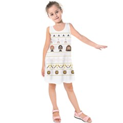 Merry Nerdmas! Ugly Christmas Kids  Sleeveless Dress