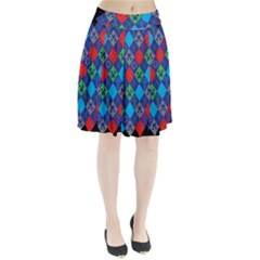 Minecraft Ugly Holiday Christmas Black Background Pleated Skirt