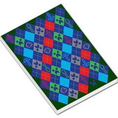 Minecraft Ugly Holiday Christmas Green Background Large Memo Pads