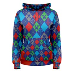 Minecraft Ugly Holiday Christmas Red Background Women s Pullover Hoodie