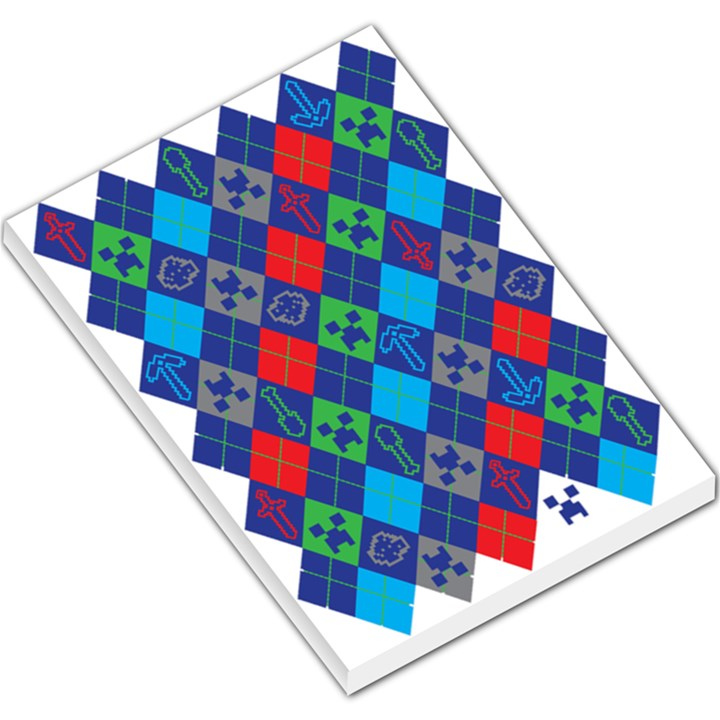 Minecraft Ugly Holiday Christmas Large Memo Pads