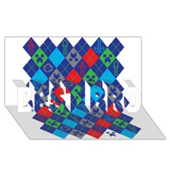 Minecraft Ugly Holiday Christmas Best Bro 3d Greeting Card (8x4)