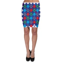 Minecraft Ugly Holiday Christmas Bodycon Skirt