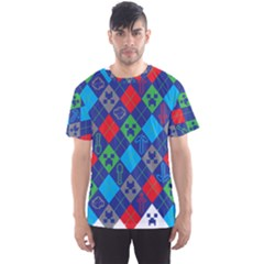 Minecraft Ugly Holiday Christmas Men s Sport Mesh Tee