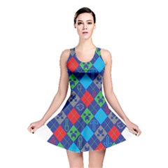 Minecraft Ugly Holiday Christmas Reversible Skater Dress