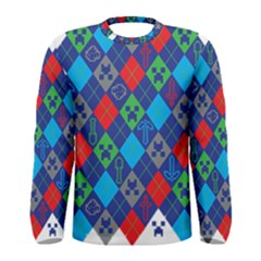 Minecraft Ugly Holiday Christmas Men s Long Sleeve Tee