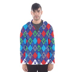 Minecraft Ugly Holiday Christmas Hooded Wind Breaker (Men)