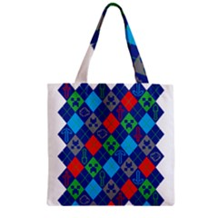 Minecraft Ugly Holiday Christmas Zipper Grocery Tote Bag