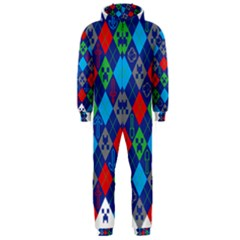 Minecraft Ugly Holiday Christmas Hooded Jumpsuit (Men)