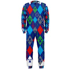 Minecraft Ugly Holiday Christmas OnePiece Jumpsuit (Men)