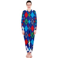 Minecraft Ugly Holiday Christmas OnePiece Jumpsuit (Ladies)