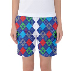Minecraft Ugly Holiday Christmas Women s Basketball Shorts