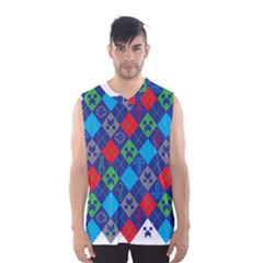 Minecraft Ugly Holiday Christmas Men s Basketball Tank Top