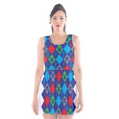 Minecraft Ugly Holiday Christmas Scoop Neck Skater Dress