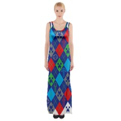 Minecraft Ugly Holiday Christmas Maxi Thigh Split Dress
