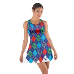 Minecraft Ugly Holiday Christmas Cotton Racerback Dress