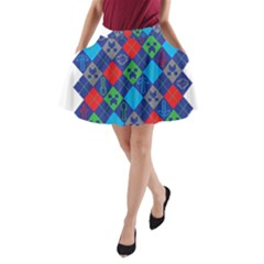 Minecraft Ugly Holiday Christmas A-Line Pocket Skirt