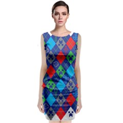 Minecraft Ugly Holiday Christmas Classic Sleeveless Midi Dress