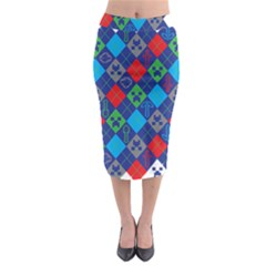 Minecraft Ugly Holiday Christmas Midi Pencil Skirt