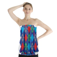 Minecraft Ugly Holiday Christmas Strapless Top