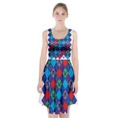 Minecraft Ugly Holiday Christmas Racerback Midi Dress