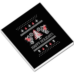 Motorcycle Santa Happy Holidays Ugly Christmas Black Background Small Memo Pads