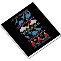 My Grandma Likes Dinosaurs Ugly Holiday Christmas Black Background Small Memo Pads