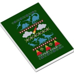 My Grandma Likes Dinosaurs Ugly Holiday Christmas Green Background Large Memo Pads