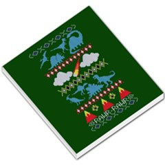 My Grandma Likes Dinosaurs Ugly Holiday Christmas Green Background Small Memo Pads