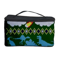 My Grandma Likes Dinosaurs Ugly Holiday Christmas Green Background Cosmetic Storage Case
