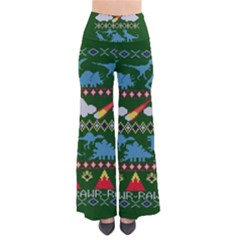 My Grandma Likes Dinosaurs Ugly Holiday Christmas Green Background Pants